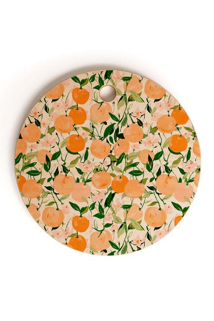 Image of Deny Designs Alison Janssen Spring Clementines Round Cutting Board