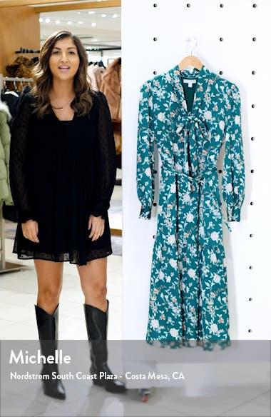 Chelsea 28 Floral Long Sleeve Satin Shirtdress, sales video thumbnail