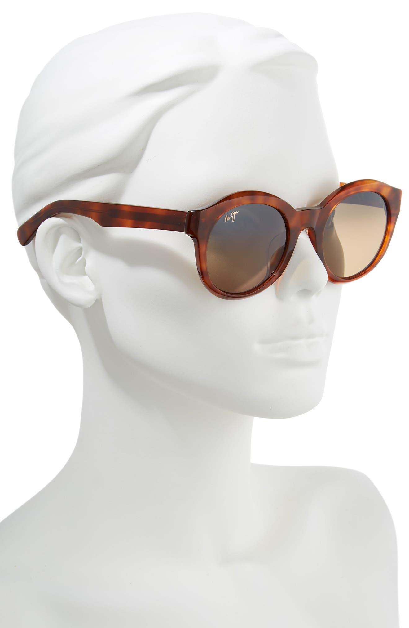 ,                             Jasmine 51mm PolarizedPlus2<sup>®</sup> Round Sunglasses,                             Alternate thumbnail 2, color,                             KOA TORTOISE/ BRONZE