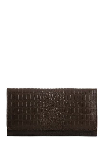 Image of Day & Mood Bree Croc Embossed Leather Wallet