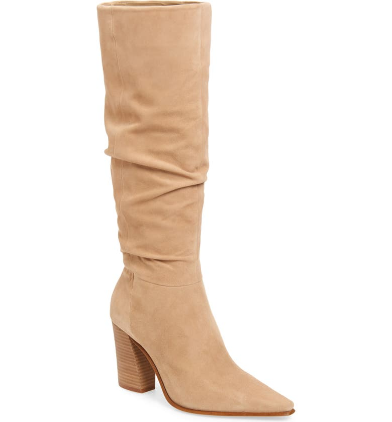 VINCE CAMUTO Derika Leather Boot, Main, color, TORTILLA SUEDE