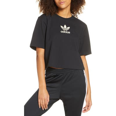 Adidas Originals Large Trefoil Tee, Black