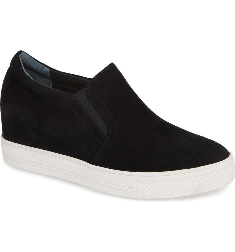 CASLON<SUP>®</SUP> Austin Slip-On Sneaker, Main, color, BLACK SUEDE