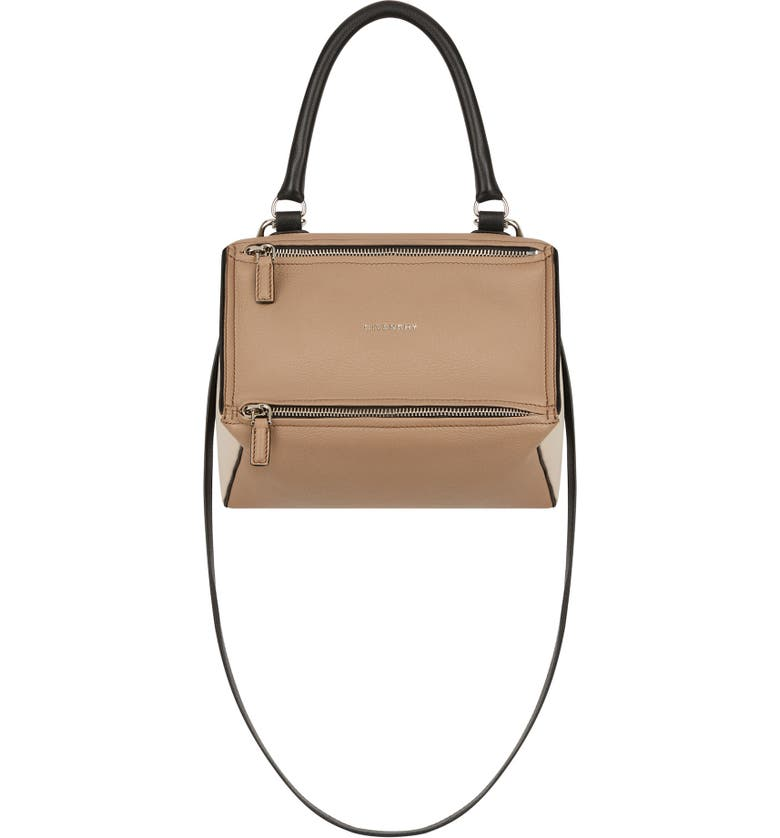 GIVENCHY Small Pandora Box Tricolor Leather Crossbody Bag, Main, color, 250