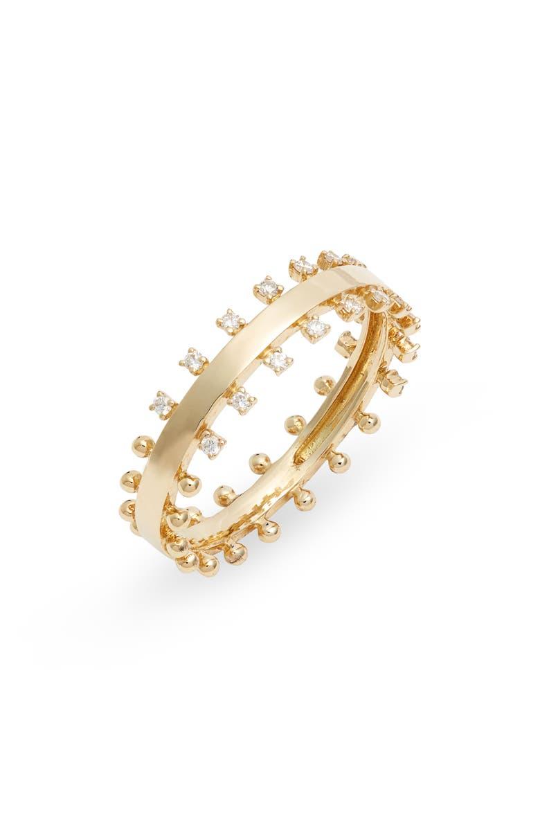 BONY LEVY Kiera Scattered Diamond Ring, Main, color, YELLOW GOLD/ DIAMOND