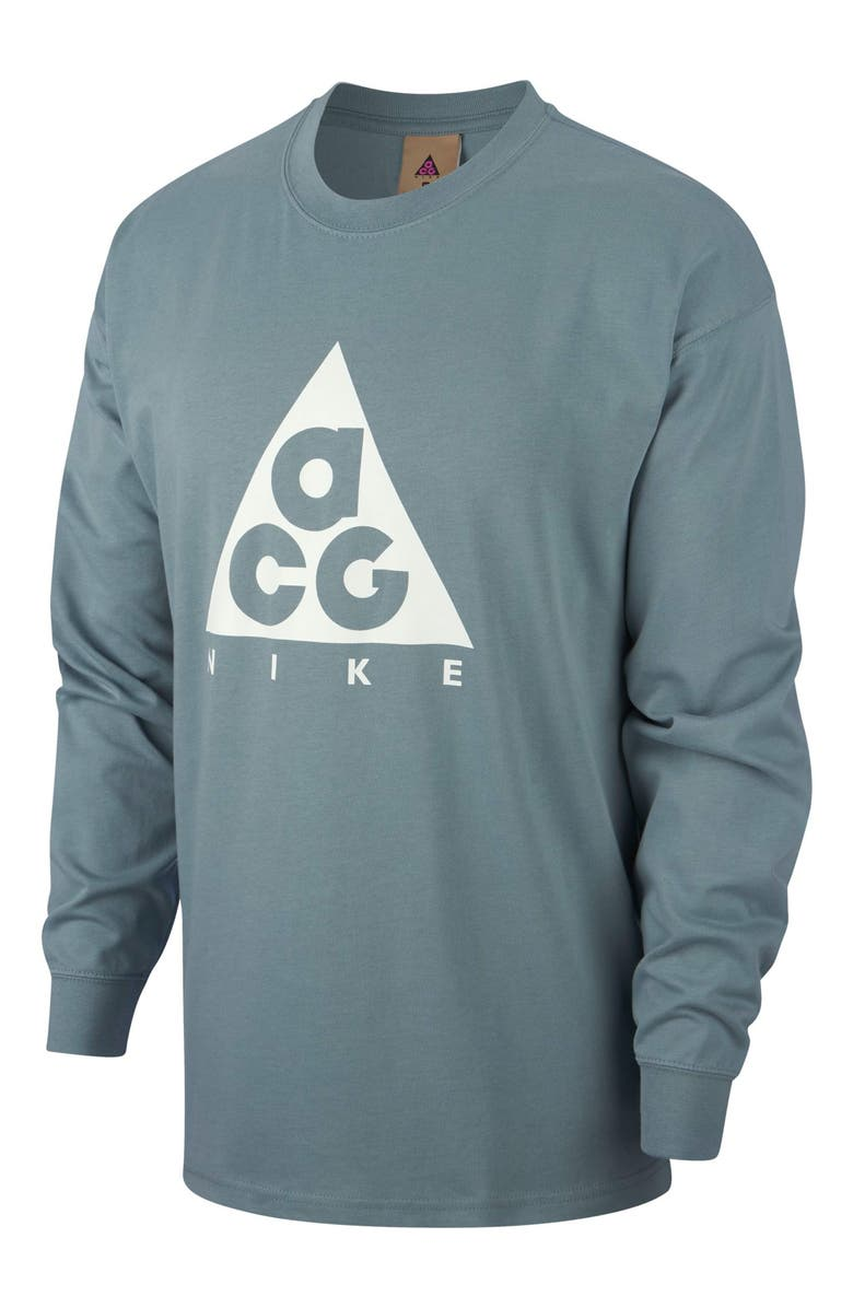 NIKE NRG All Conditions Gear Men's Logo T-Shirt, Main, color, AVIATOR GREY/ SUMMIT WHITE