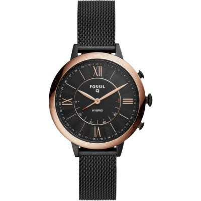 Fossil Q Jacqueline Mesh Strap Hybrid Smart Watch,