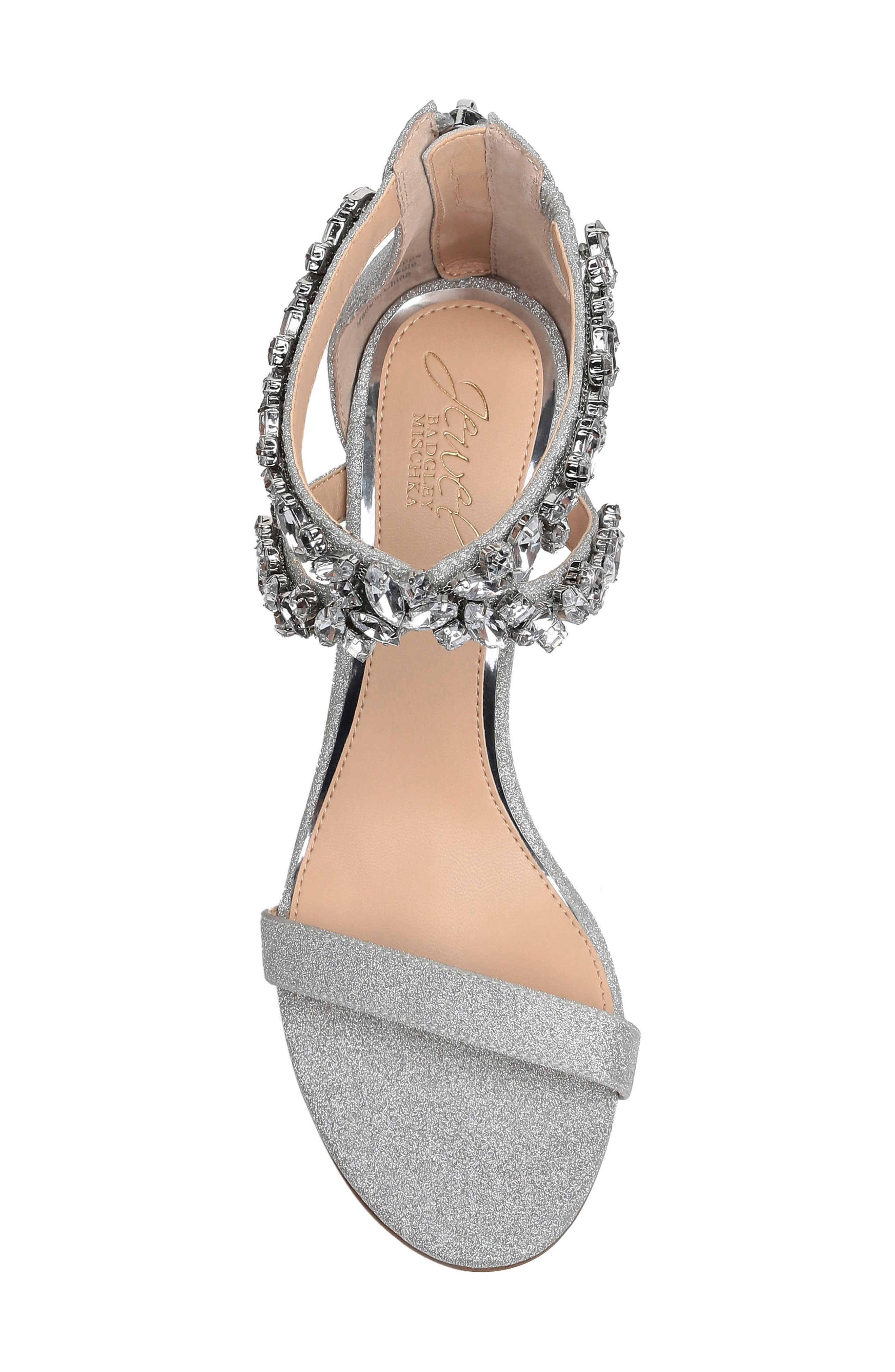 ,                             Jaylee Sandal,                             Alternate thumbnail 5, color,                             SILVER SATIN