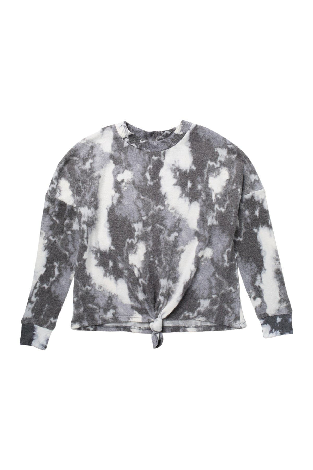Image of Love, Fire Slouchy Tie Front Sweatshirt