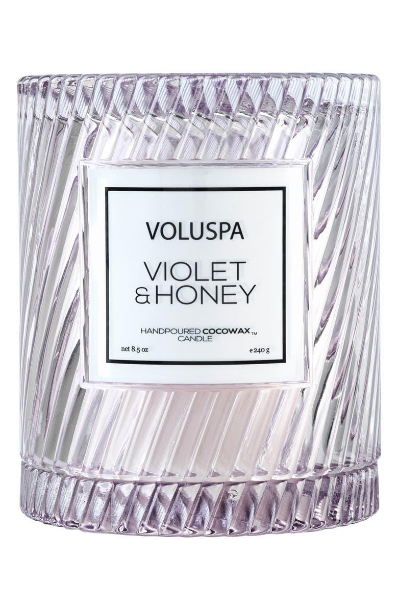 VOLUSPA Macaron Icon Cloche Cover Candle, Main, color, VIOLET AND HONEY