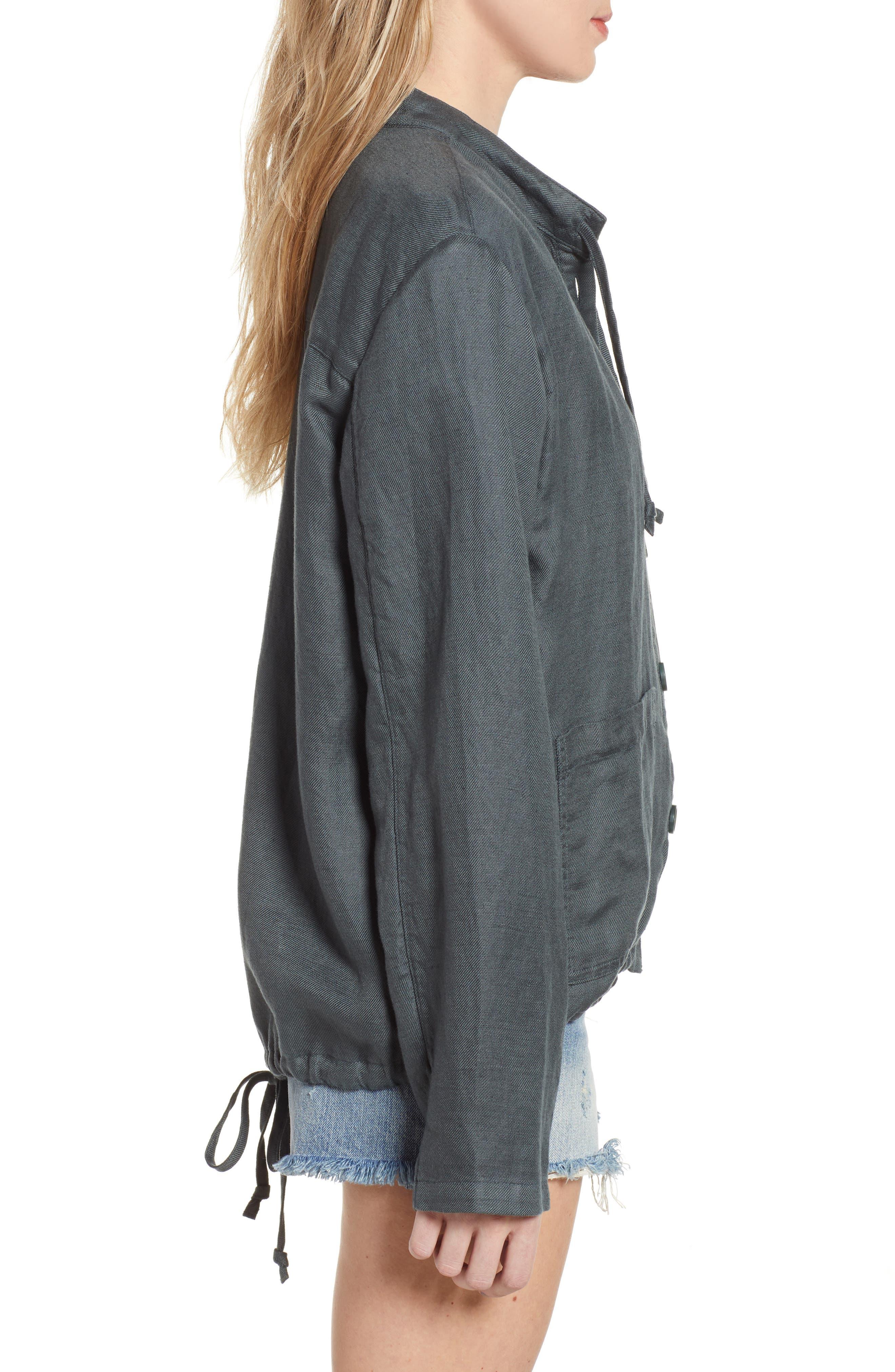 ,                             Oversize Military Jacket,                             Alternate thumbnail 4, color,                             GREY URBAN