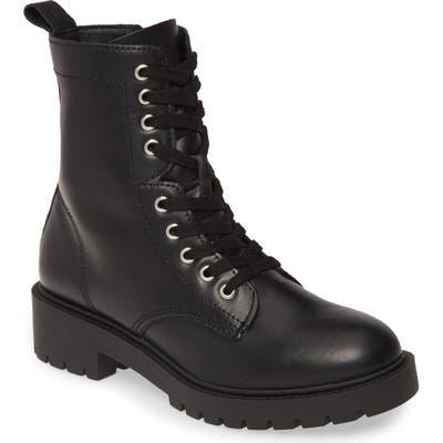 Steve Madden Guided Combat Boot- Black