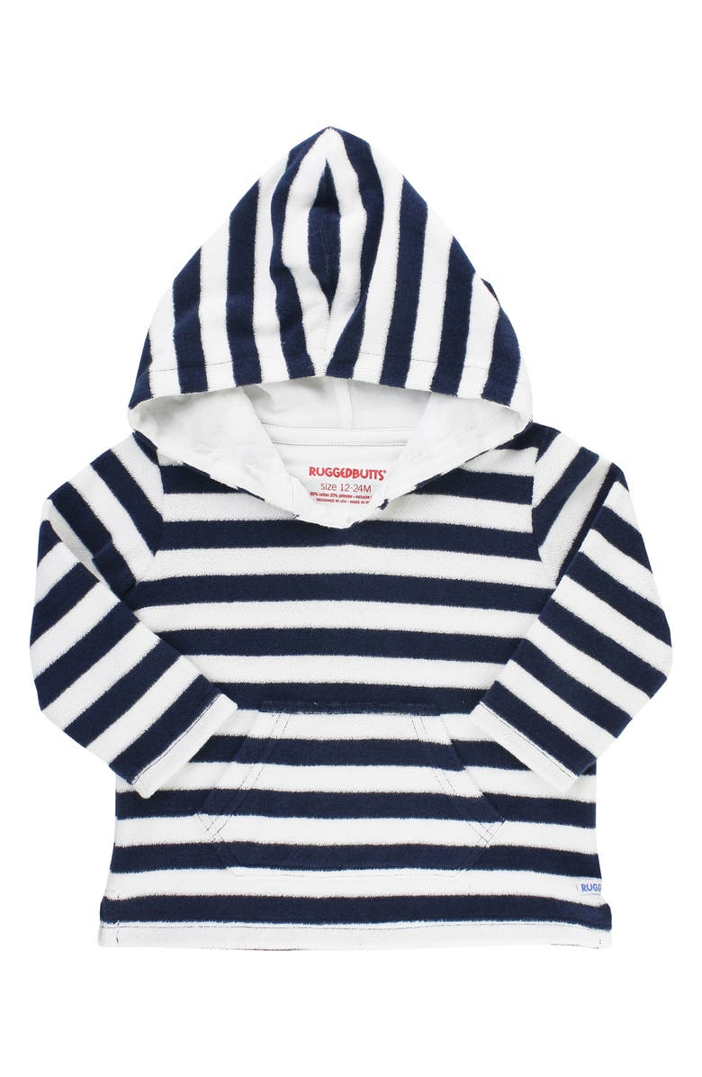 RUGGEDBUTTS Terry Cover-Up Hoodie, Main, color, NAVY