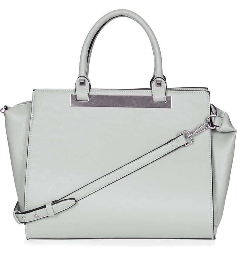 TOPSHOP Faux Leather Handbag, Main, color, 020