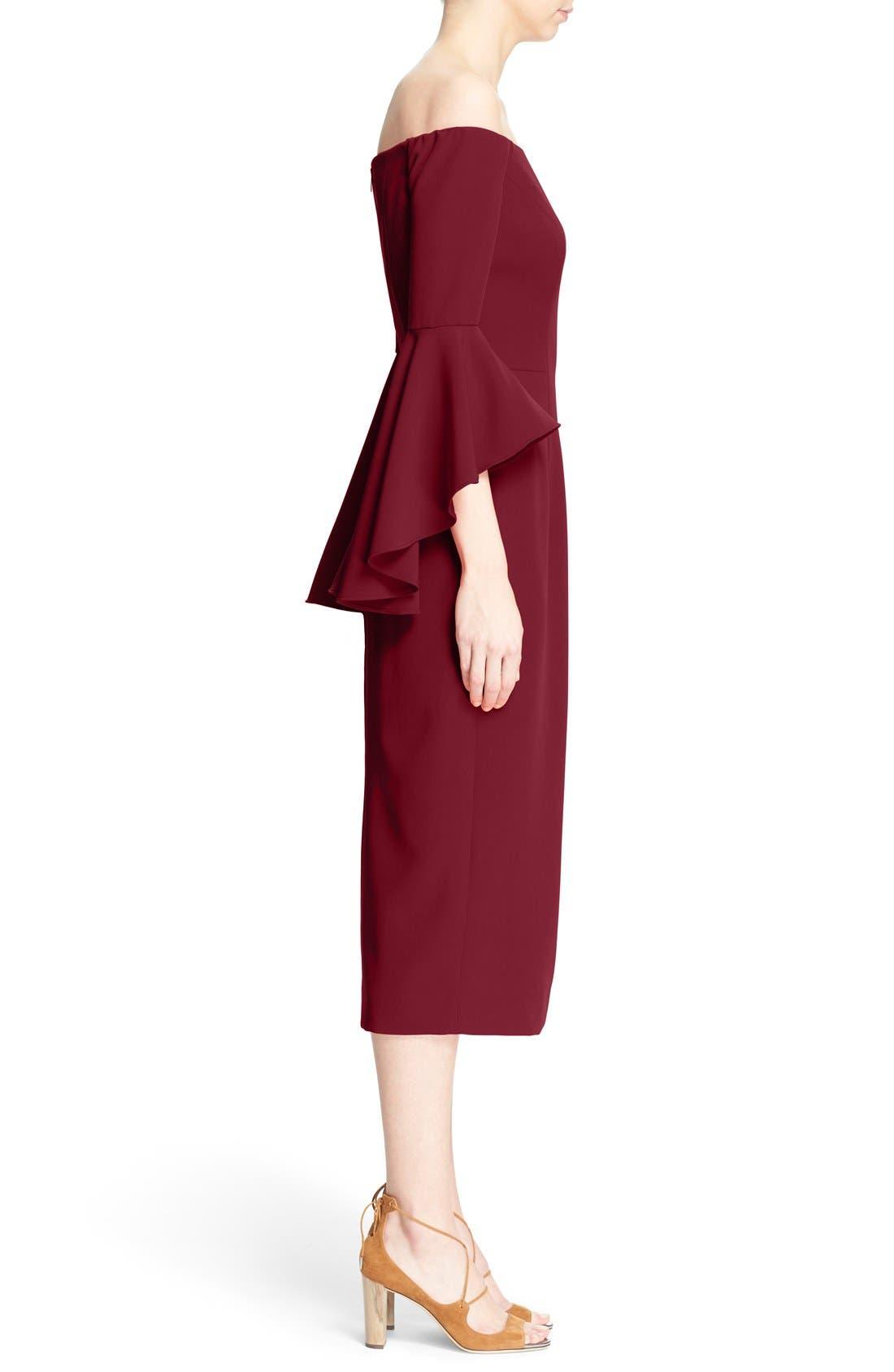 ,                             Selena Off the Shoulder Midi Dress,                             Alternate thumbnail 51, color,                             507