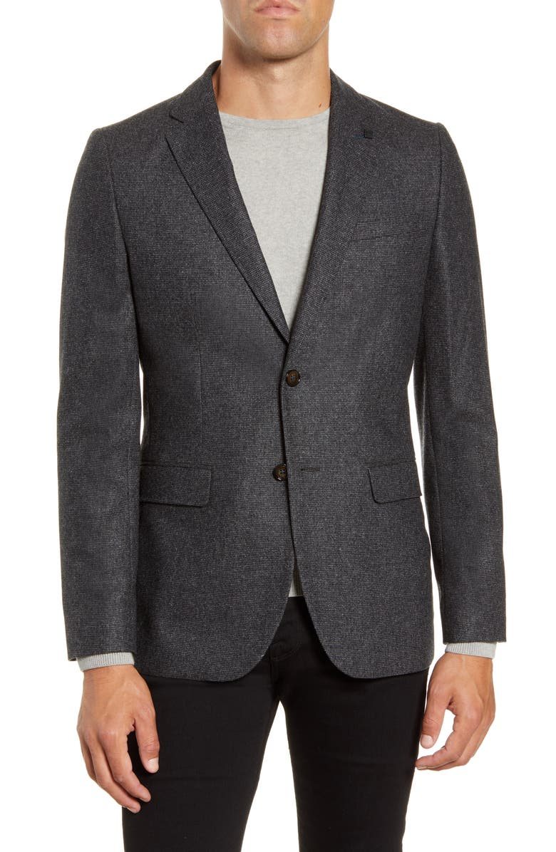 TED BAKER LONDON Core Slim Fit Wool Blend Sport Coat, Main, color, GREY