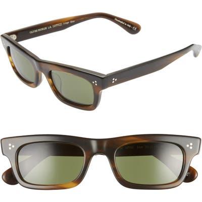 Oliver Peoples Jaye 50Mm Rectangle Sunglasses - Bark/ G15