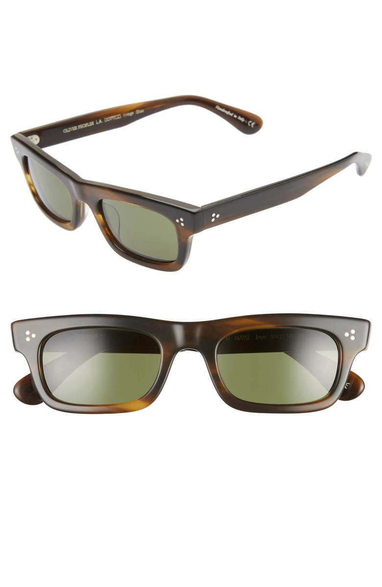 OLIVER PEOPLES Jaye 50mm Rectangle Sunglasses, Main, color, 200