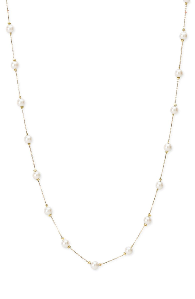 NORDSTROM Long Strand Illusion Glass Pearl Necklace, Main, color, 710