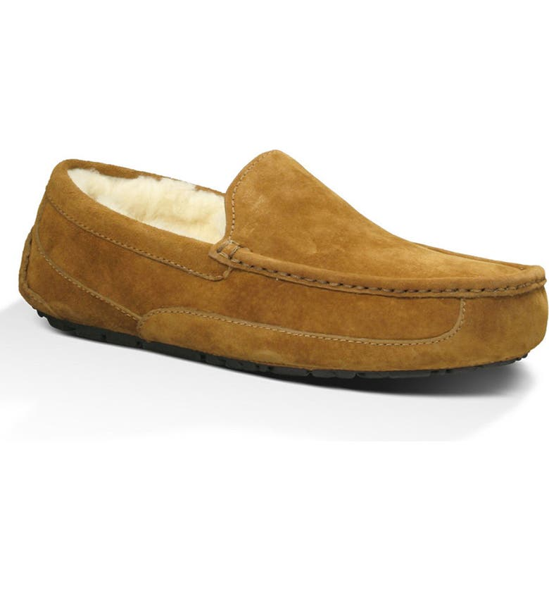 UGG<SUP>®</SUP> Ascot Slipper, Main, color, CHESTNUT SUEDE