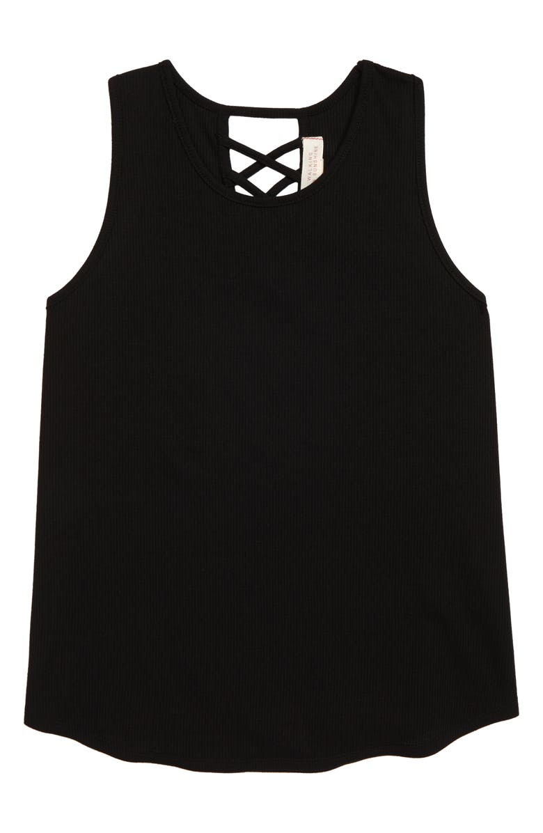 Walking On Sunshine Crisscross Rib Tank Big Girls