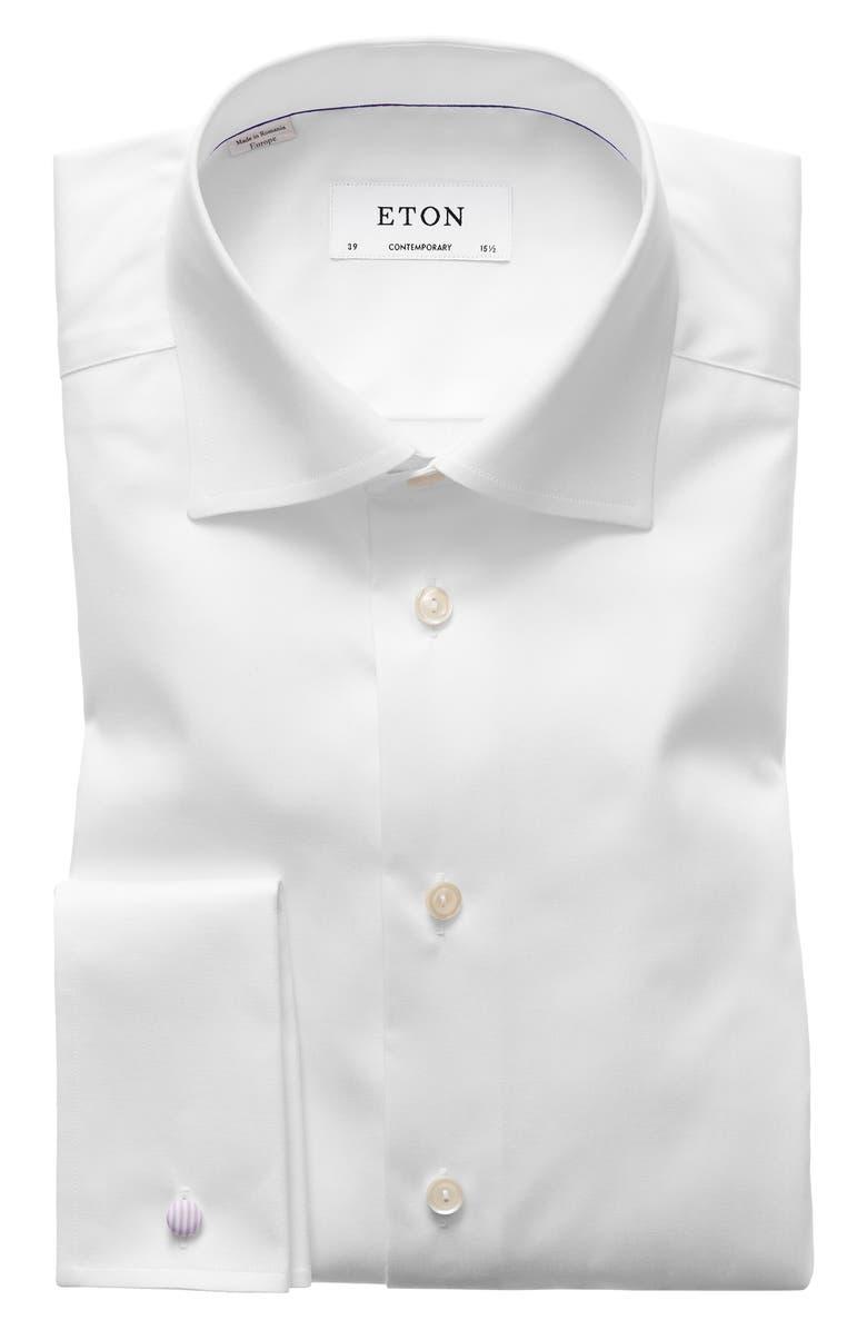 ETON Contemporary Fit Dress Shirt, Main, color, WHITE