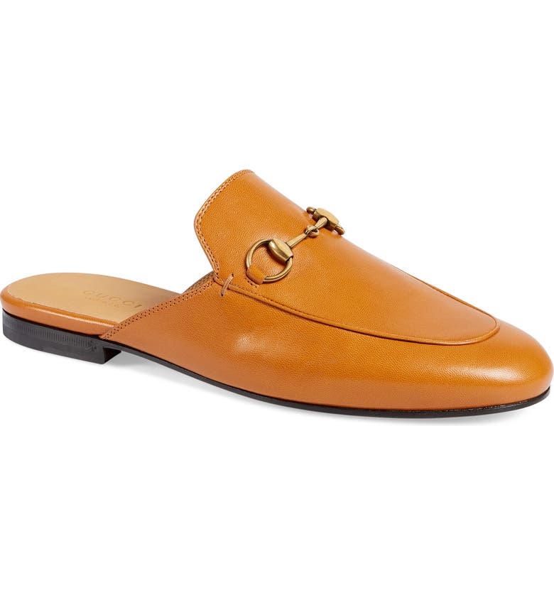 GUCCI Princetown Loafer Mule, Main, color, COGNAC