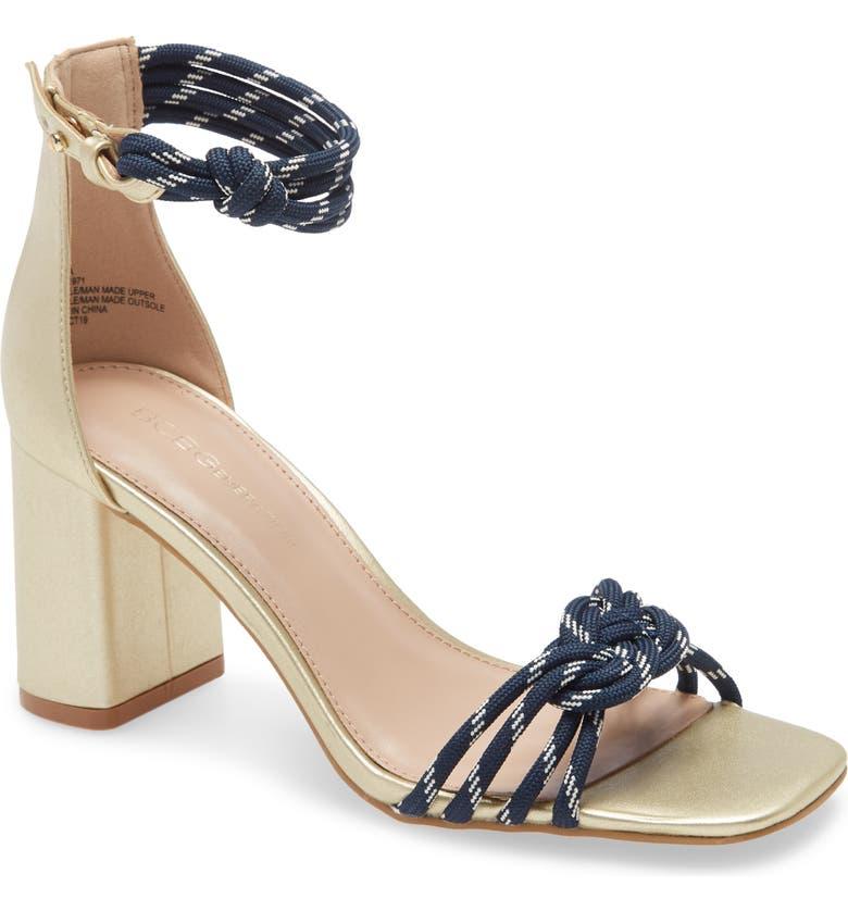 BCBGENERATION Telila Ankle Strap Sandal, Main, color, GOLD FABRIC
