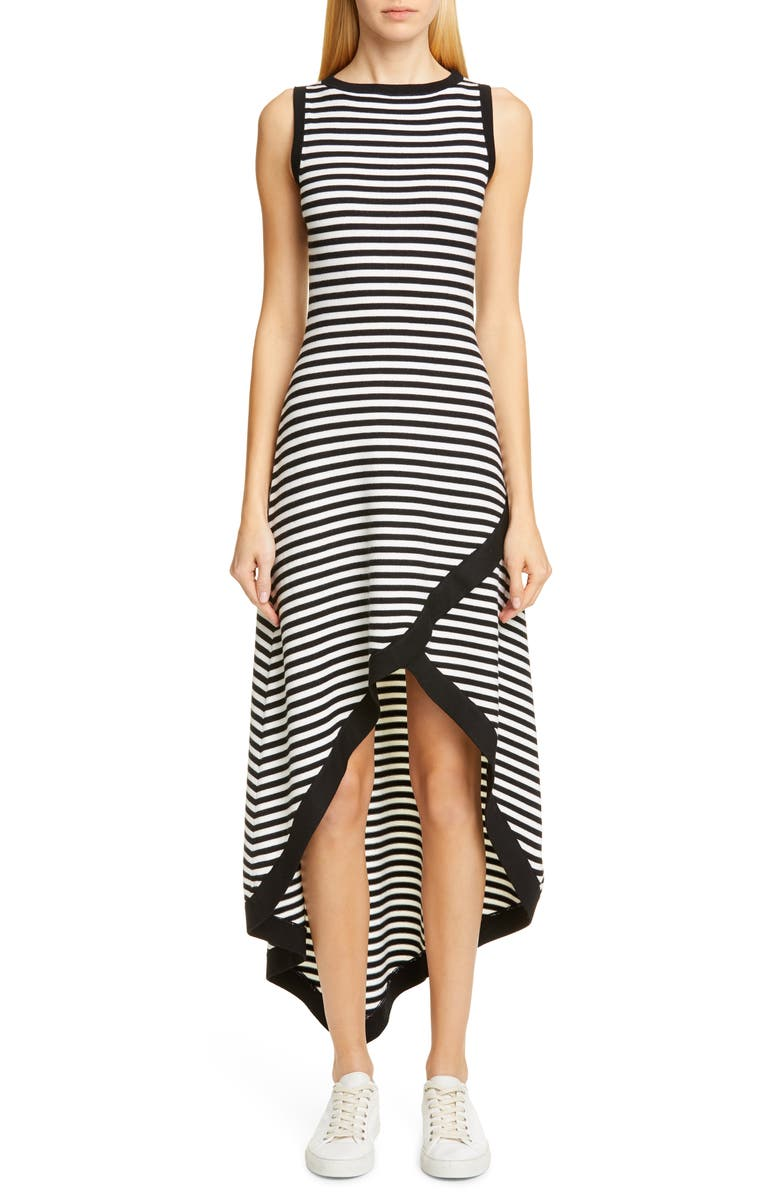 VICTOR GLEMAUD Striped High/Low Sweater Dress, Main, color, 001