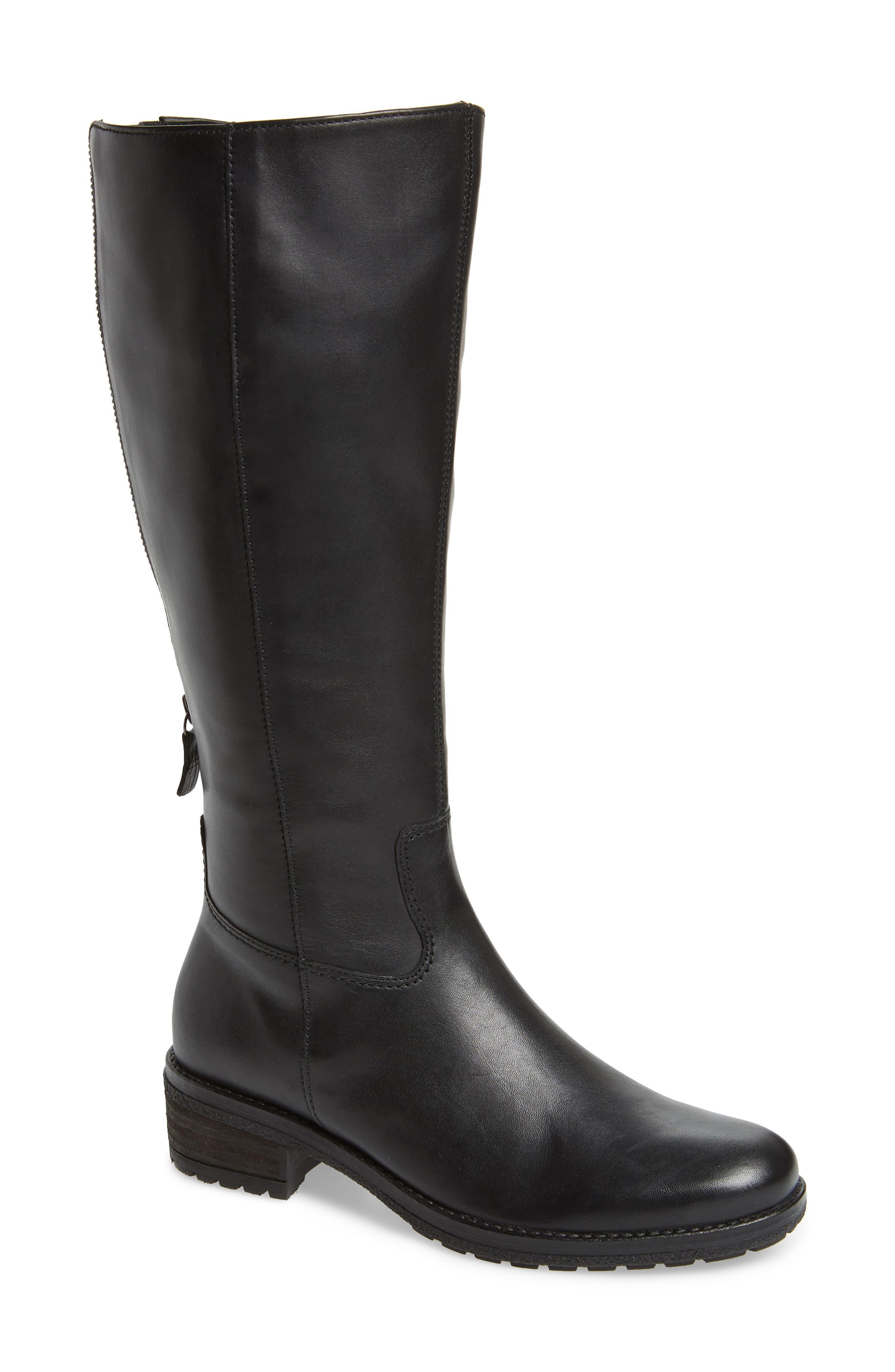 Gabor Classic Comfort Knee High Riding Boot, Black