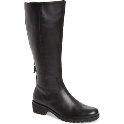 Gabor Classic Comfort Knee High Riding Boot, Black