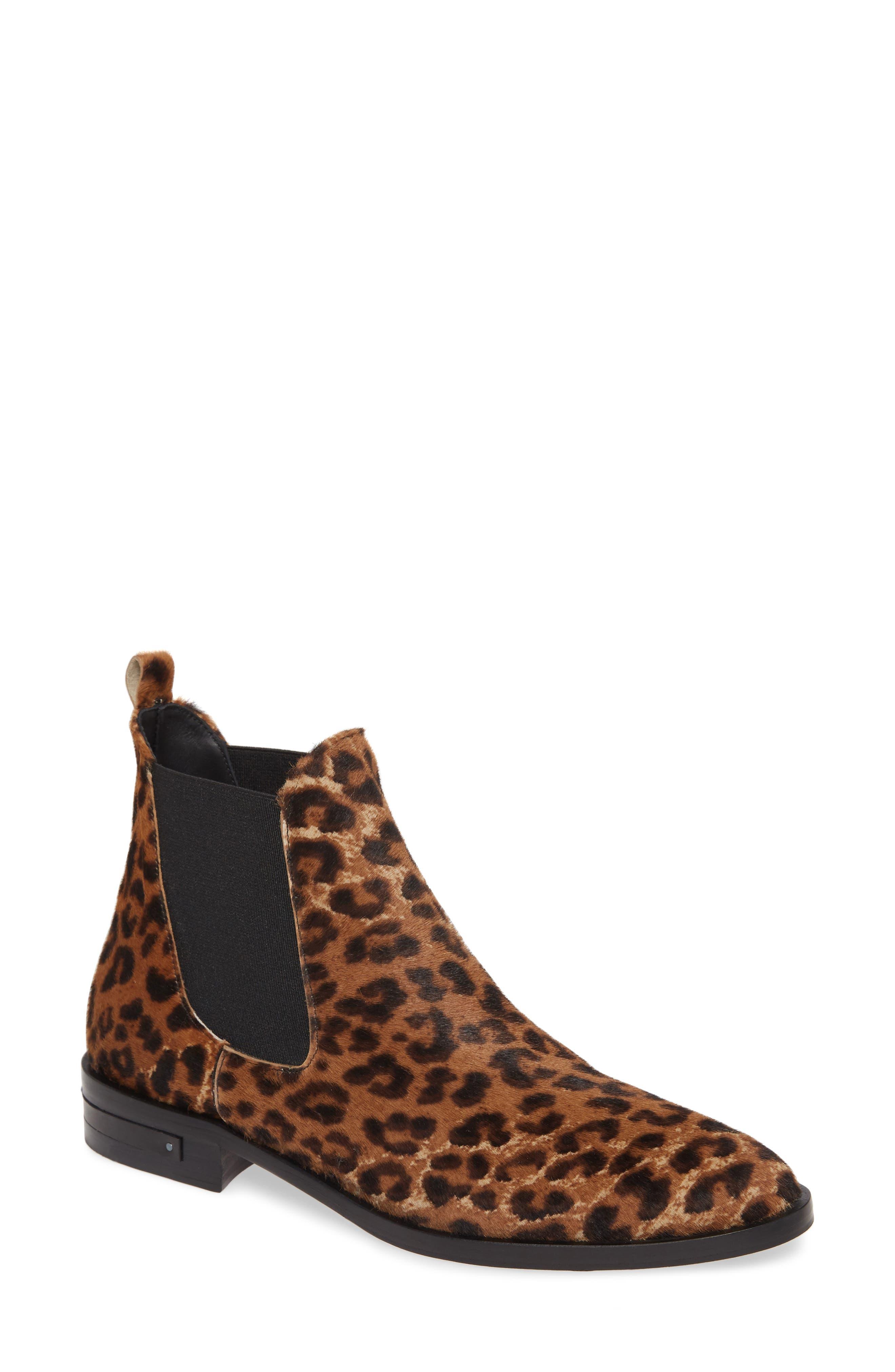 Image of FREDA SALVADOR Sleek Genuine Calf Hair Chelsea Boot