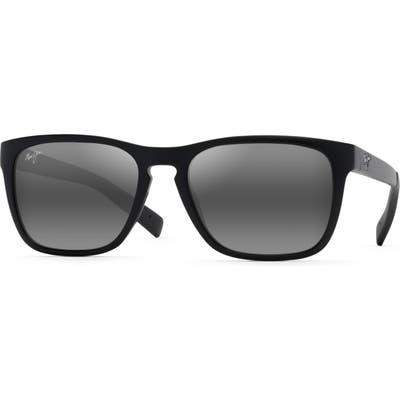 Maui Jim Longitude 52Mm Polarized Sunglasses - Matte Black