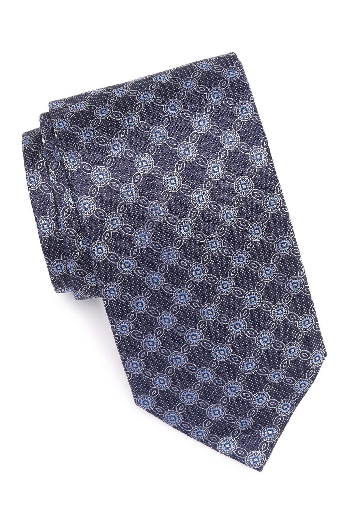 Image of Eton Medallion Print Silk Tie