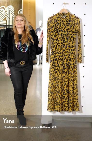 Smudge Mesh Long Sleeve Midi Dress, sales video thumbnail
