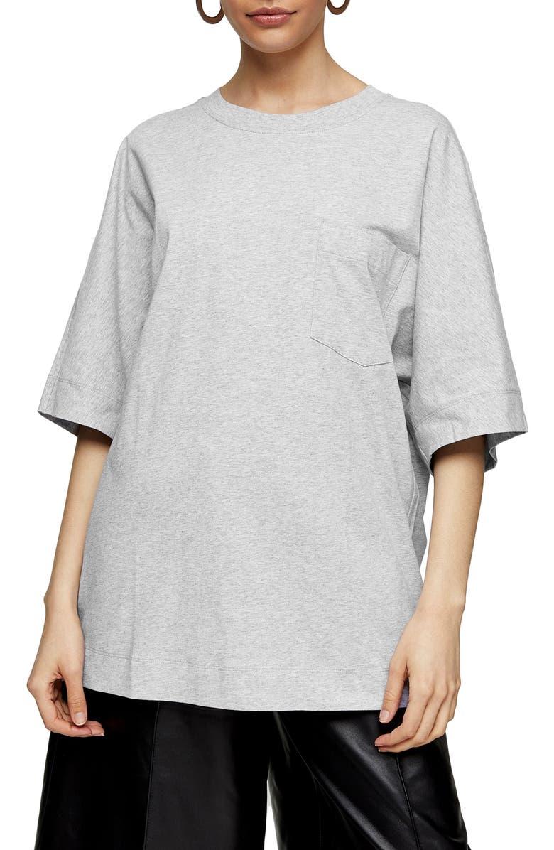 TOPSHOP BOUTIQUE Ultimate Pocket T-Shirt, Main, color, 020