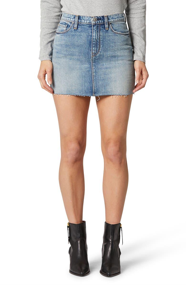 HUDSON JEANS The Viper Denim Miniskirt, Main, color, PLANETOID