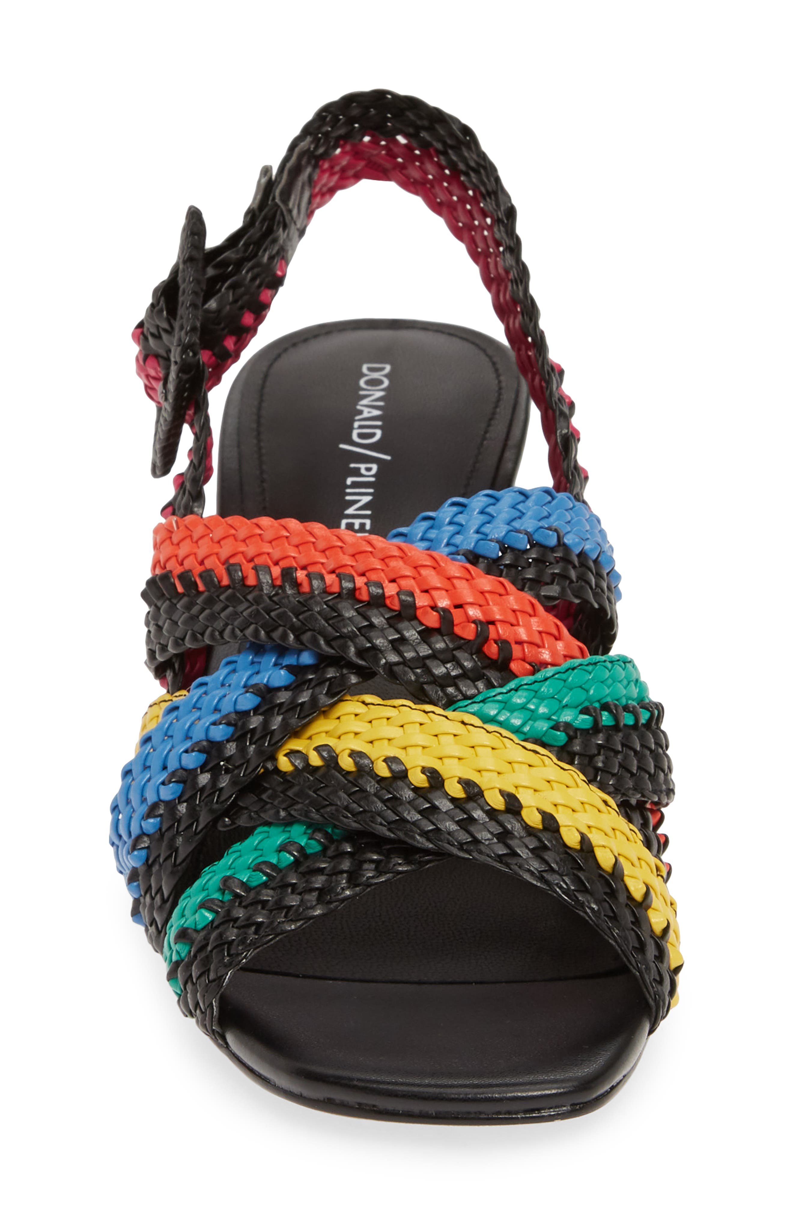 ,                             Vara Slingback Sandal,                             Alternate thumbnail 4, color,                             BLACK LEATHER