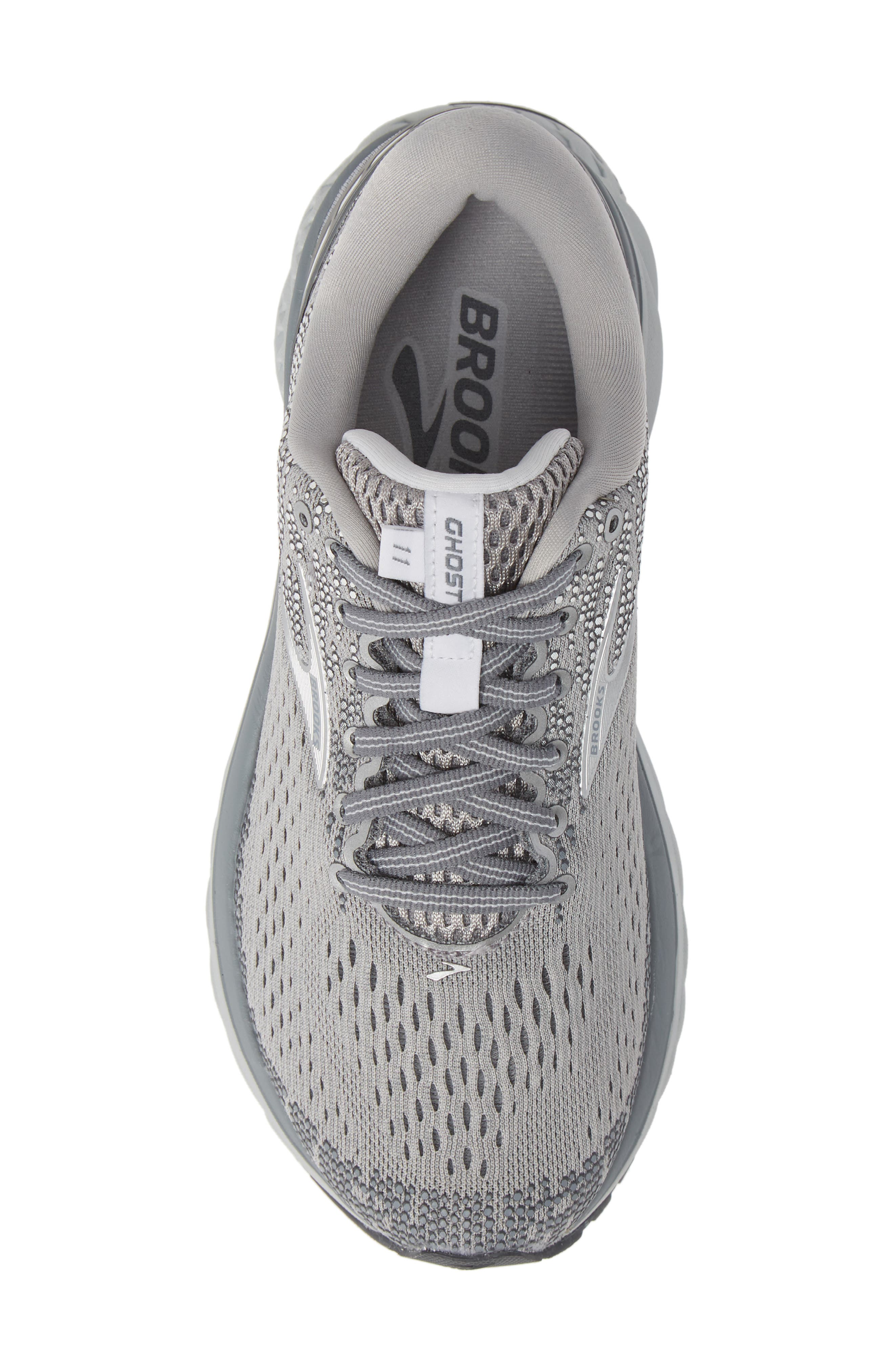 ,                             Ghost 11 Running Shoe,                             Alternate thumbnail 5, color,                             GREY/ SILVER/ WHITE