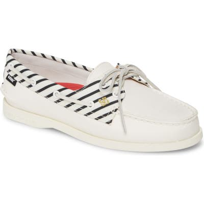 Sperry Authentic Original Bionic Boat Shoe- Ivory