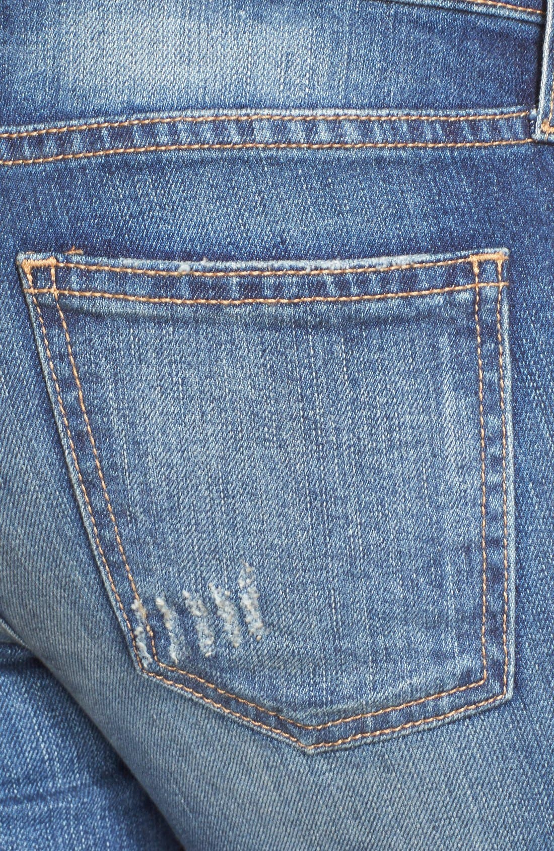 ,                             'The Stiletto' Destroyed Skinny Jeans,                             Alternate thumbnail 14, color,                             461