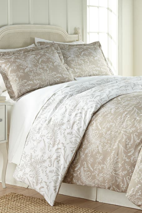 SOUTHSHORE FINE LINENS - Full/Queen Southshore Fine Linens Winter Brush Duvet 3-Piece Set - Sand