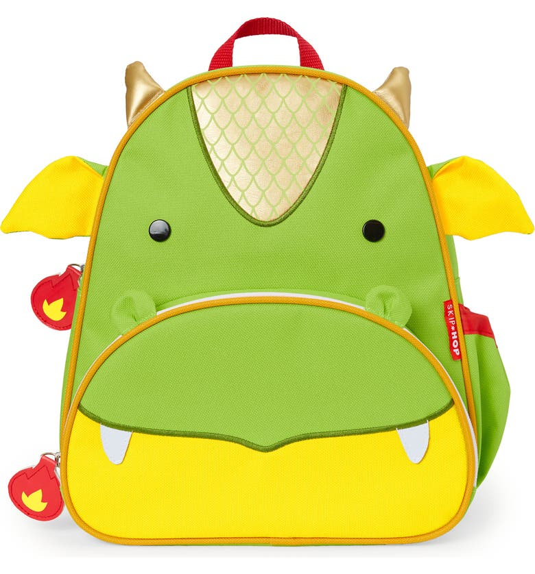 SKIP HOP Zoo Pack Dragon Backpack, Main, color, GREEN