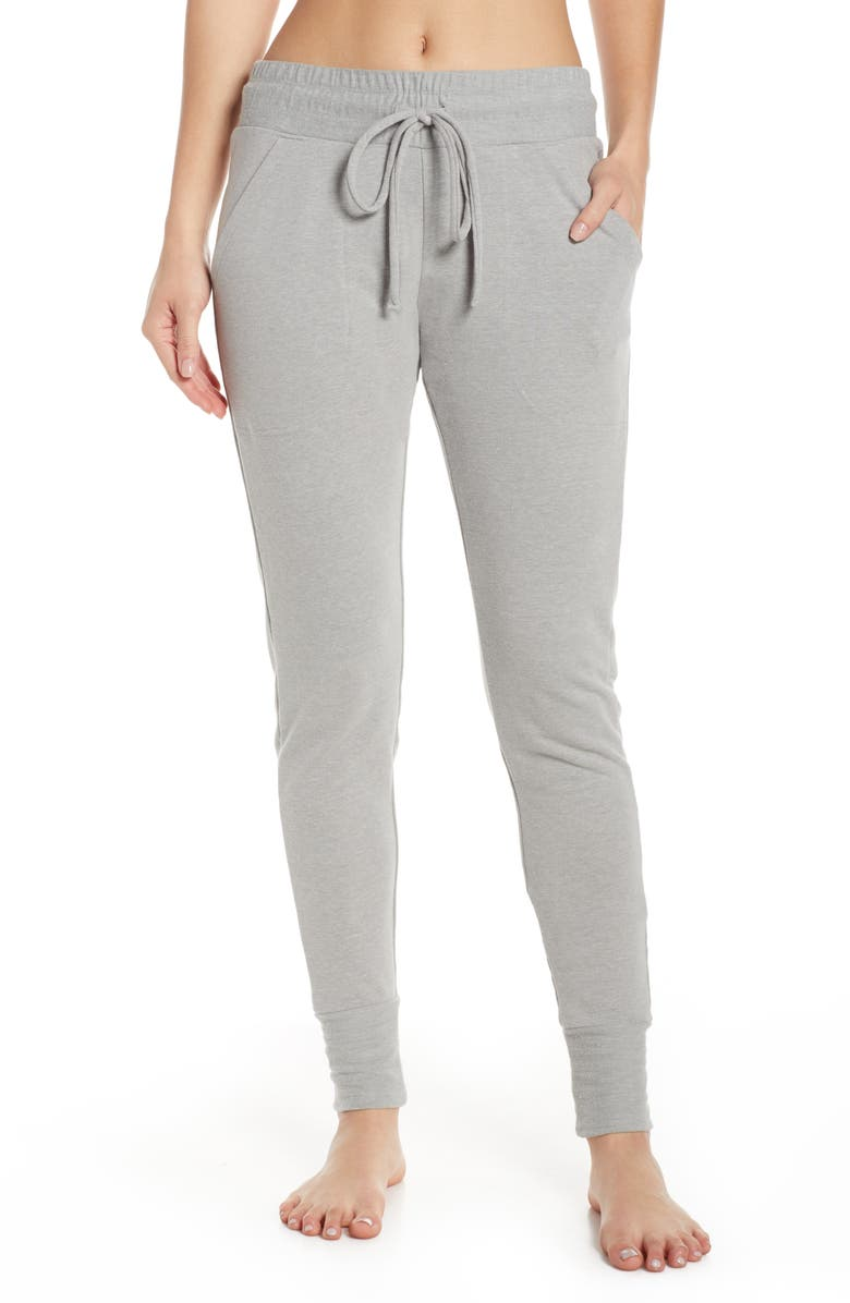 FREE PEOPLE FP MOVEMENT Sunny Skinny Sweatpants, Main, color, HEATHER GREY