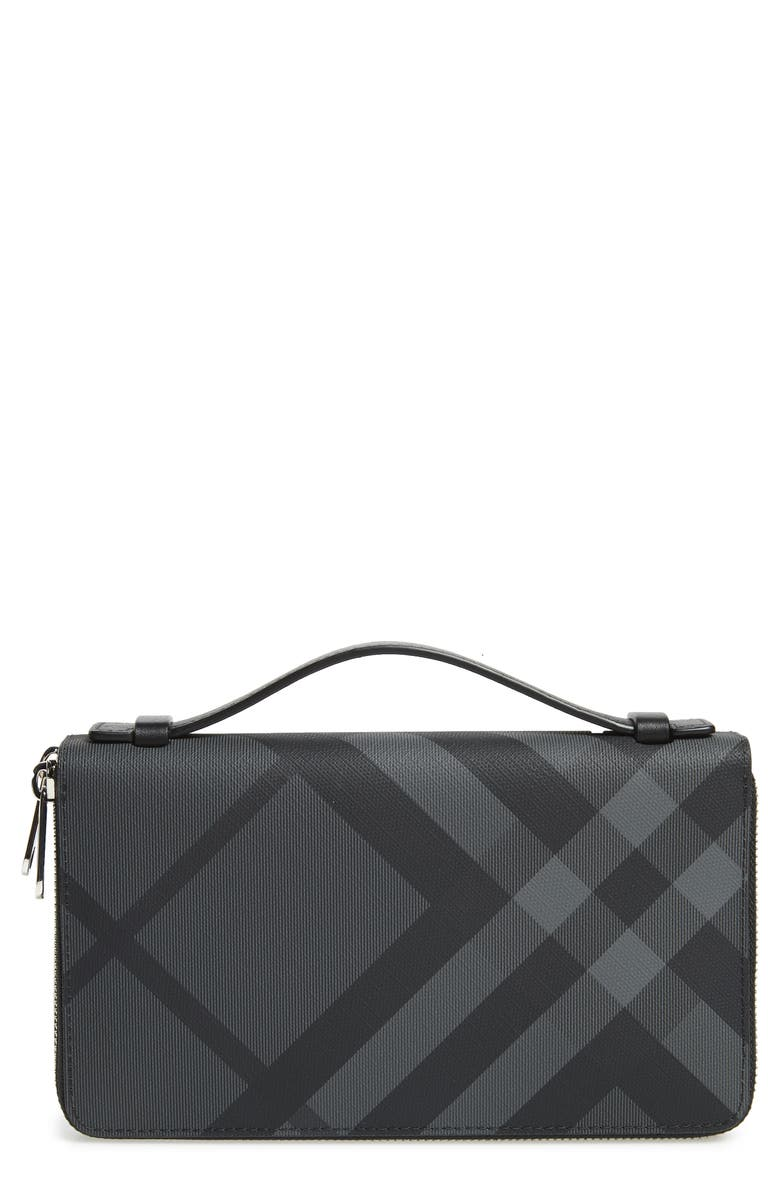 BURBERRY Reeves Zip Wallet, Main, color, 019