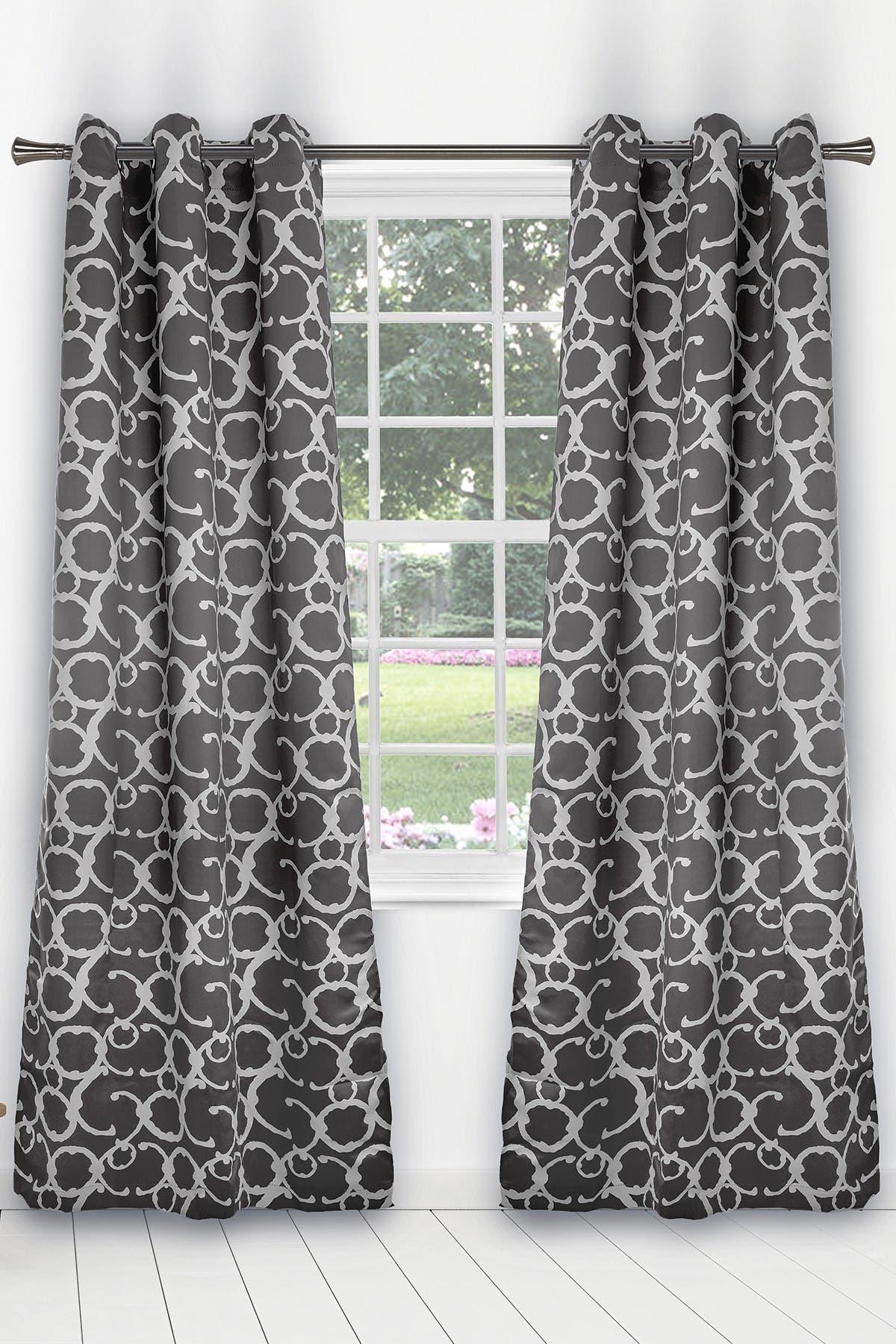 Image of Duck River Textile Rhys Blackout Grommet Panel Curtains - Set of 2 - Grey
