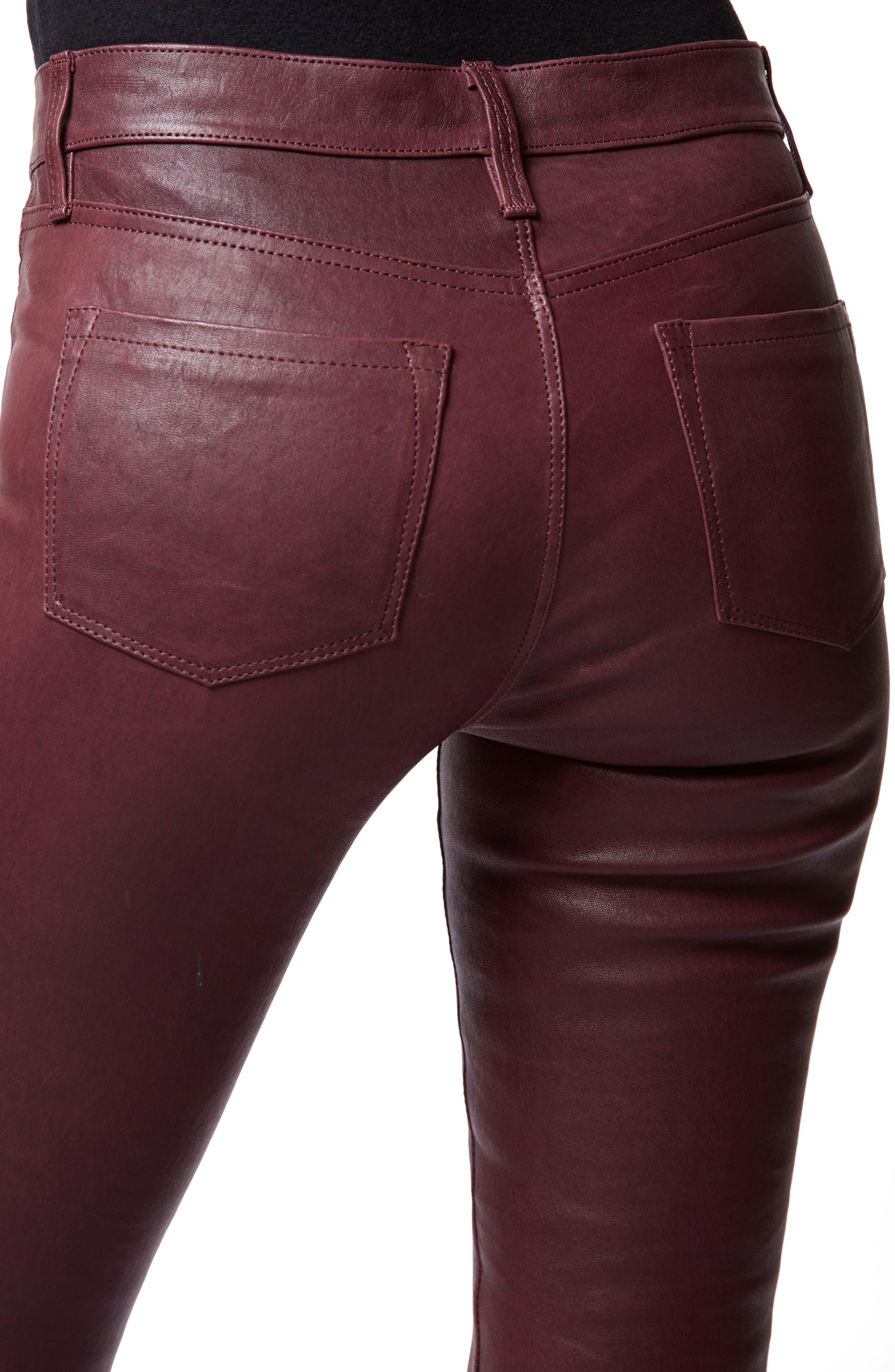 ,                             '8001' Lambskin Leather Pants,                             Alternate thumbnail 5, color,                             510