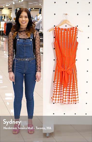 Octagon Print Fit & Flare Cotton Dress, sales video thumbnail