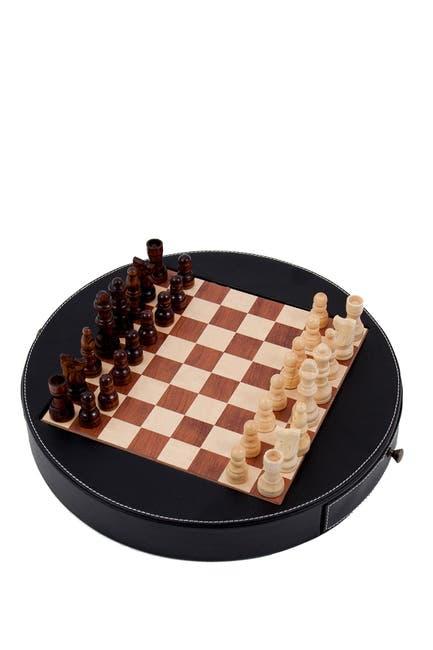 Image of Bey-Berk Leather Chess Set