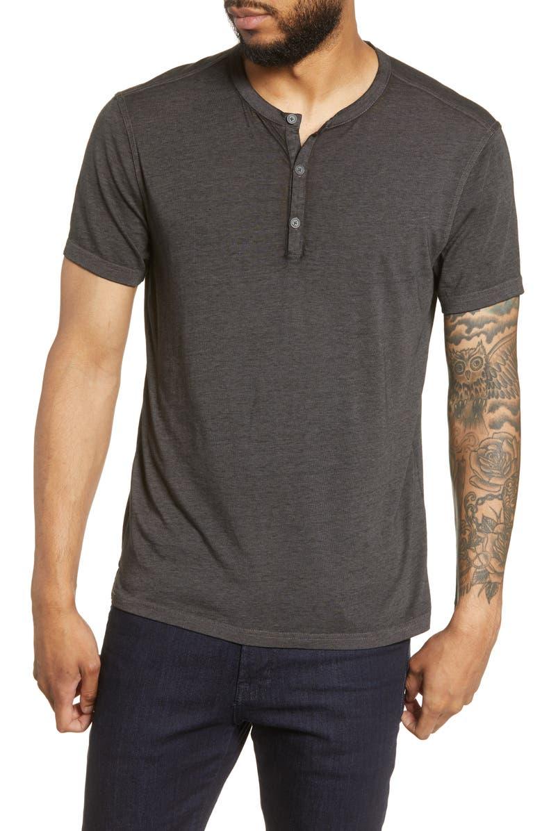 JOHN VARVATOS STAR USA Regular Fit Henley T-Shirt, Main, color, CHARCOAL